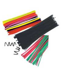 CHENILLE STEMS NEON COLOURS PK100
