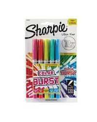 MARKER SHARPIE PERMANENT FINE COLOUR BURST PK5
