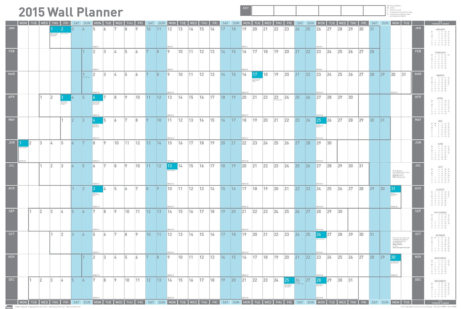 Wall Planners 2019